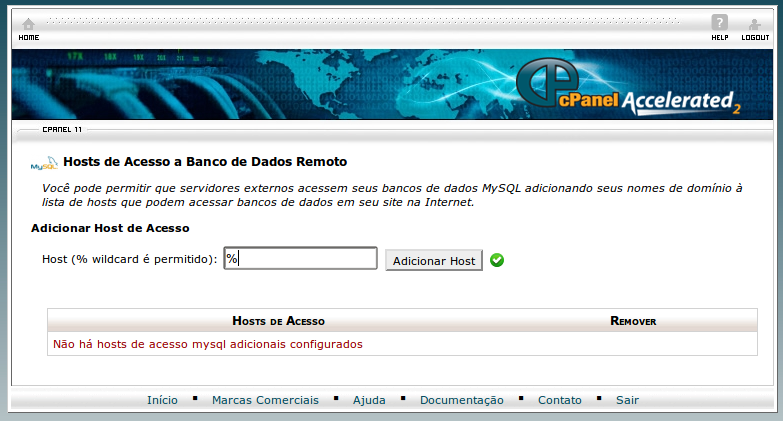 Cpanel access remote